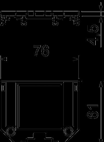 Схема Накладка для универсальной монтажной коробки UT3, с отверстием для одинарной розетки Modul 45® — арт.: 7408771