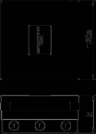 Схема Лючок UDHome4 с модульной рамкой MT3, для индивидуальной комплектации, из латуни — арт.: 7427252