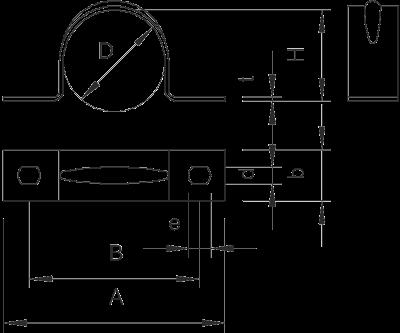 Схема Крепежная скоба стандартная, с двумя лапками — арт.: 1018078