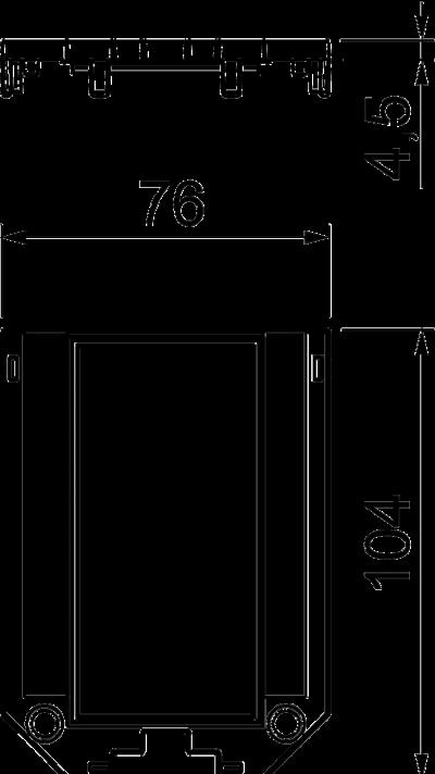 Схема Накладка для универсальной монтажной коробки UT3, с отверстием для двойной розетки Modul 45® — арт.: 7408773