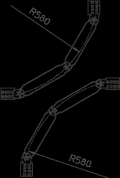 Схема Вертикальный регулируемый угол с перекладинами NS — арт.: 6213022