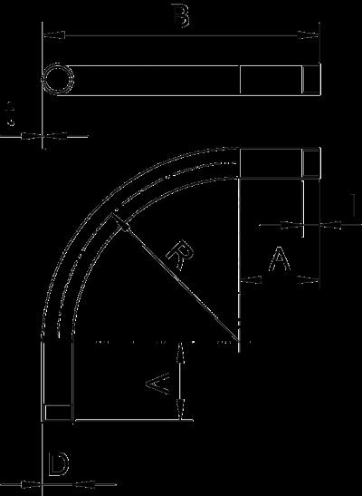 Схема Алюминиевая дуга с резьбой — арт.: 2046042