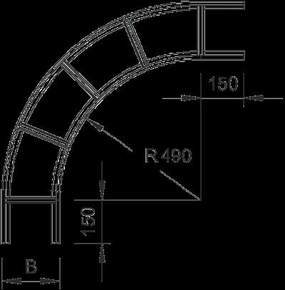 Схема Угловая секция 90° — арт.: 6203027