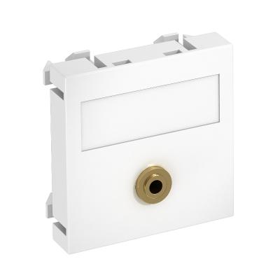 Мультимедийная рамка с разъемом Mini-Klinken, ширина 1 модуль, с прямым выводом, для соединения пайкой — арт.: 6104946