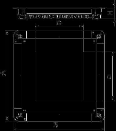 Схема Монтажное основание UGD350-3 с крышкой для лючка GES9/55 — арт.: 7410062