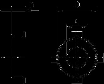 Схема Огнестойкая манжета для трубы с 6 крепежными планками — арт.: 7202209