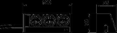 Схема Настольный бокс DB для мобильной установки, с 3 розетками — арт.: 6116930