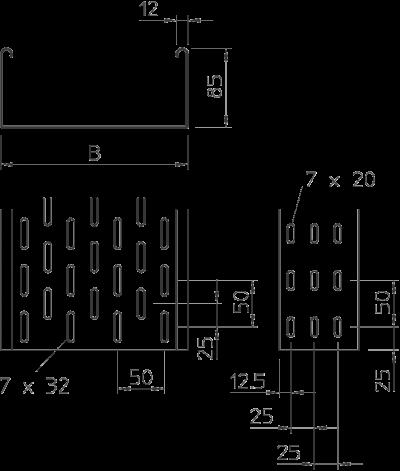 Схема Листовой кабельный лоток MKS — арт.: 6057101