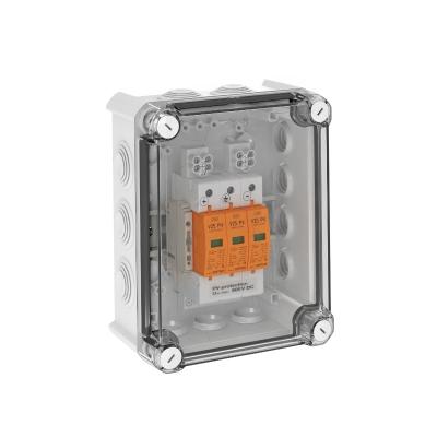 Системное решение для защиты преобразователей фотогальванических установок, в корпусе, с разрядниками типа 1+2, с 1 треккером MPP, 900 В постоянного т — арт.: 5088591