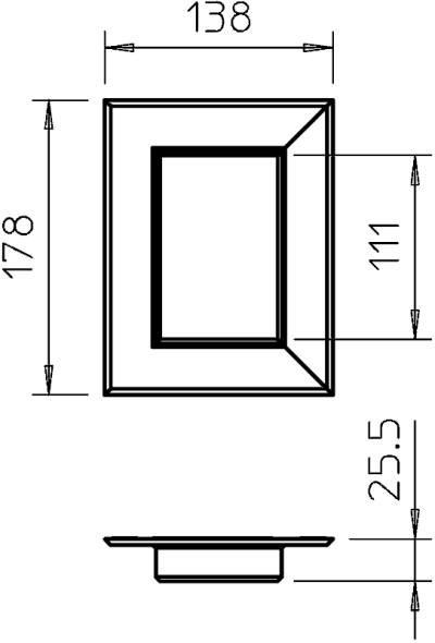 Схема Потолочная накладка для электромонтажной колонны ISS70110 — арт.: 6278840