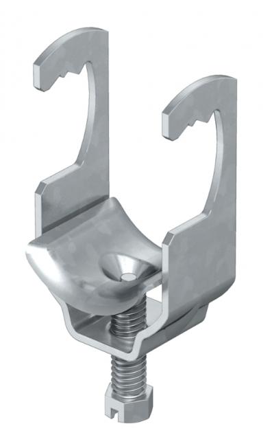 Зажимная скоба для крепления круглых профилей и труб — арт.: 1158410