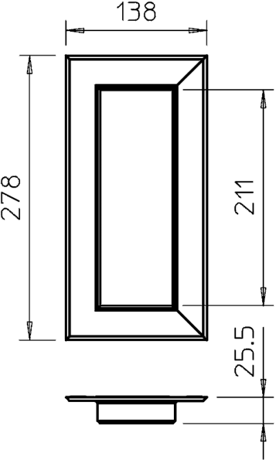 Схема Настенная торцевая заглушка из ПВХ, закрытая, для кабельных коробов 70210 — арт.: 6274880