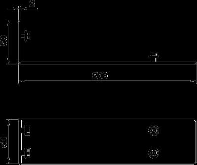 Схема Соединитель секций кабельного канала со щеточной планкой — арт.: 7403855