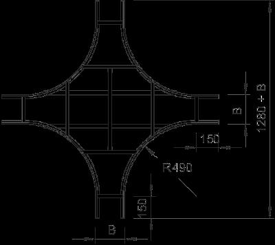 Схема Крестообразная секция с перекладинами VS — арт.: 6214223