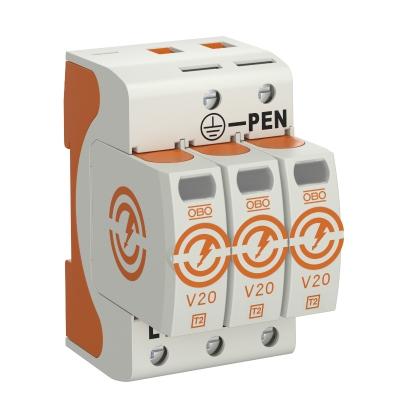 Разрядник для защиты от перенапряжений V20 3-полюсный, 550 В — арт.: 5095213