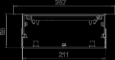 Схема Канал для силового кабеля без регулируемых опор — арт.: 7403811