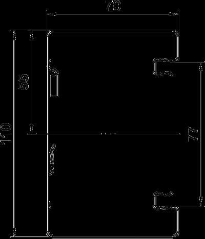 Схема Стальной кабельный короб Rapid 80 высотой 70 мм — арт.: 6277000