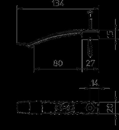 Схема Кабельный зажим для 8 проводов, со вставным дюбелем — арт.: 2204800