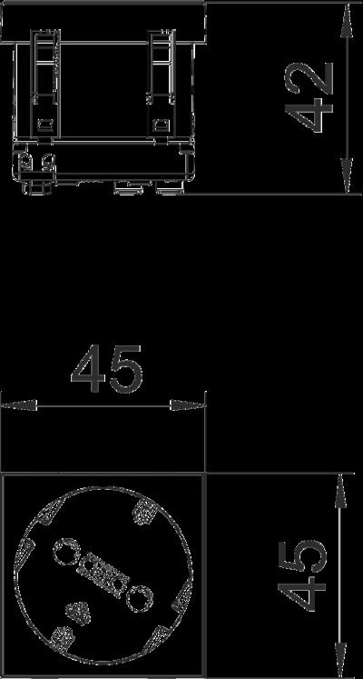 Схема Розетка 33° с защитным контактом, одинарная — арт.: 6120072