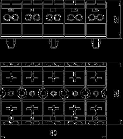 Схема Клеммная колодка — арт.: 6108043