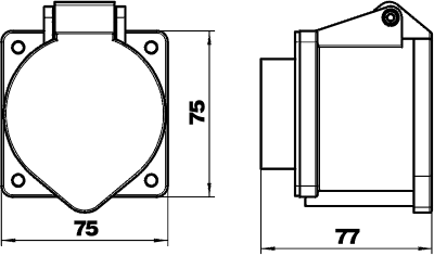 Схема Розетка CEE, 32 А — арт.: 6109876