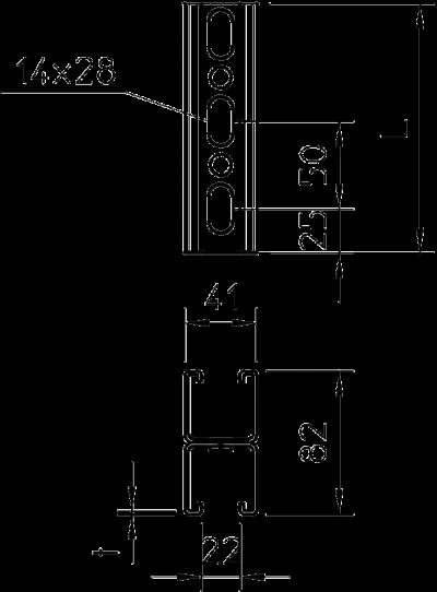 Схема Монтажная рейка усиленная, двойная — арт.: 1122682
