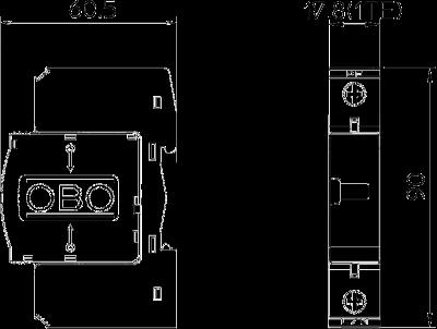 Схема Разрядник для защиты от перенапряжений 1-полюсный — арт.: 5094677