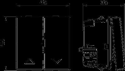 Схема Переключатель ролльставней, ширина 1 модуль — арт.: 6117657