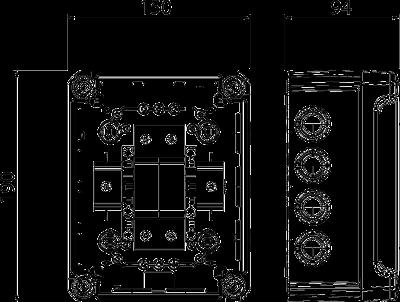 Схема Системное решение: разрядник для защиты от перенапряжений V20 в корпусе, 1-полюсный + NPE — арт.: 5095381