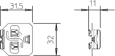 Схема Фиксатор для крепления разделительной полочки — арт.: 6062284