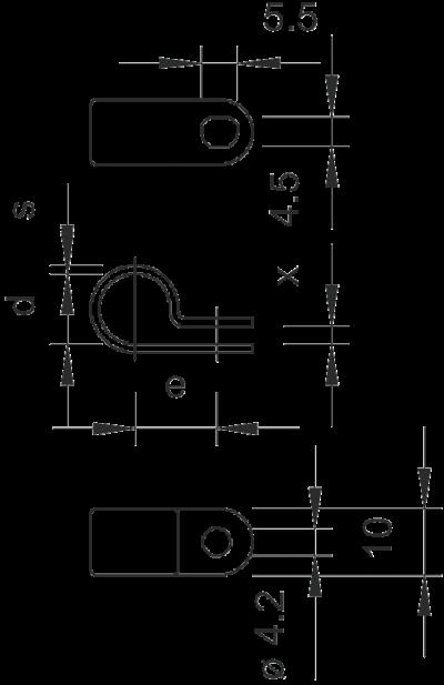Схема Крепежная скоба (типа серьга) — арт.: 2222035