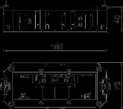 Схема Универсальная монтажная коробка UT3, системная длина 165 мм — арт.: 7408723