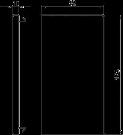 Схема Торцевая заглушка для кабельного короба высотой 90 мм — арт.: 6277770