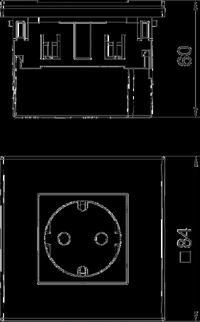 Схема Розетка AR45, одинарная — арт.: 6119401