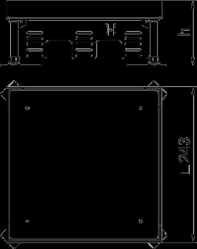 Схема Регулируемый ревизионный люк RKN, из латуни — арт.: 7409022