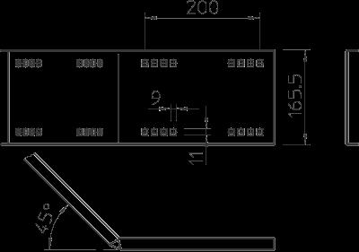 Схема Угловой соединитель 45° горизонтальный, внутренний — арт.: 6227902