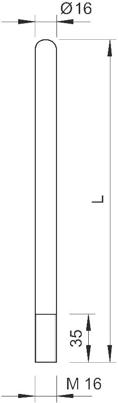 Схема Молниеприемный стержень, округленный с одной стороны — арт.: 5401771