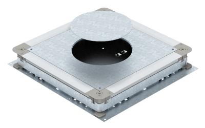Монтажное основания UZD350-3 с отверстием для круглого лючка, для стяжки высотой 70 — 125 мм — арт.: 7410116