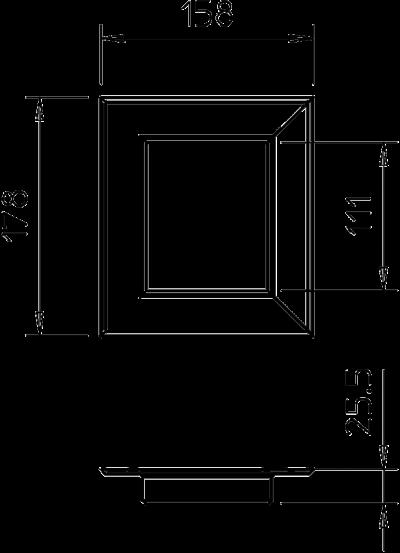 Схема Настенная торцевая заглушка из ПВХ, закрытая, для кабельных коробов 90110 — арт.: 6274950