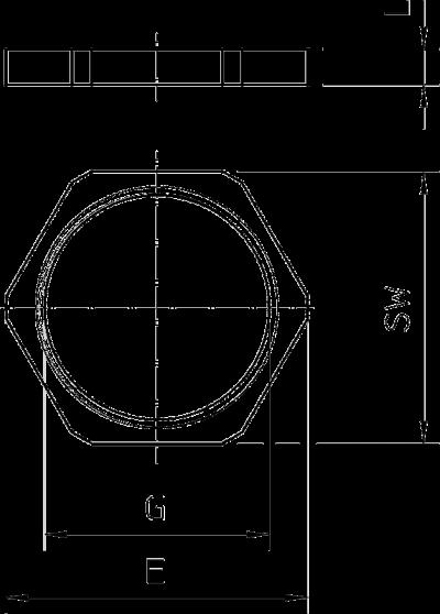 Схема Контргайка с метрической резьбой — арт.: 2091607