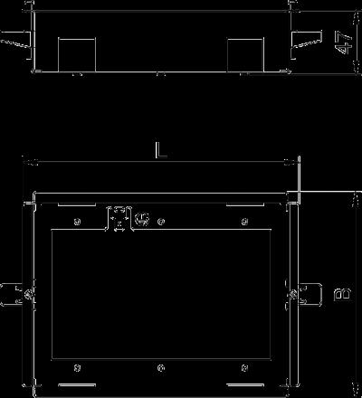 Схема Рамка Modalnet для монтажа в полую стену, для 3х двойных розеток — арт.: 6109952