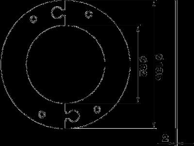 Схема Напольная пластина для электромонтажной колонны ISS110100R — арт.: 6290290