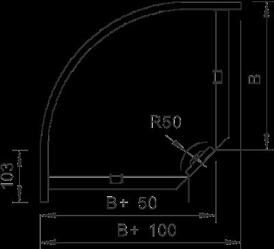 Схема Угловая секция 90° — арт.: 6043119