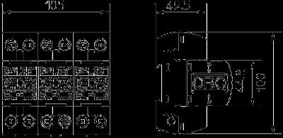 Схема Комбинированный разрядник 3-полюсный, с индикацией функций — арт.: 5096835