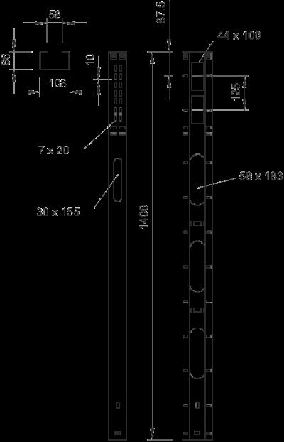 Схема Стойка для подвода электропитания к оборудованию — арт.: 6356311