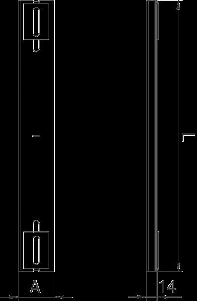 Схема Опора для кабельного канала шириной 250 мм — арт.: 7399910