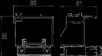 Схема Фиксатор для разгрузки кабеля от натяжения для установки в розетках 0° Modul 45® — арт.: 6120782