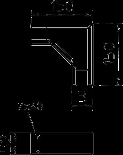 Схема Угловая секция 90° — арт.: 6074901