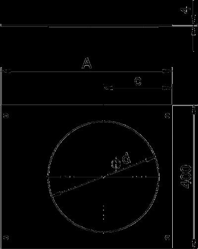 Схема Крышка с отверстием для лючка GESR9, 400 мм — арт.: 7425122