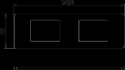 Схема Суппорт для 2х телекоммуникационных модулей типа А — арт.: 7408701